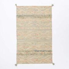 West Elm Hand Woven SAHARA WOOL DHURRIE RUG Tassel Tapis 152.4cmx243.8cm RRP$599