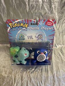 Pokemon Battle Playset Bulbasaur vs Poliwag Plushes NEW Applause