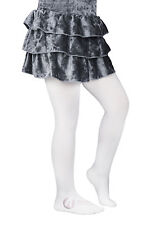 Girls' Satin De Luxe Tights 100 Denier 3D, High Gloss, Shiny Opaque Tights