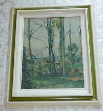 Vintage Framed PAUL CEZANNE Print LANDSCAPE Wood Picture Frame