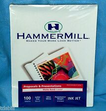 HammerMill Proposal & Presentations Matte Bond 1 Sided Recognition Ultra White