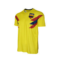 Colombia National Team Jersey Patriotic Yellow Flag Shield Pride Sports Soccer