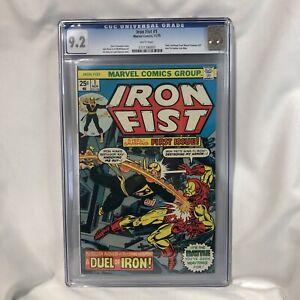 Iron Fist #1 CGC 9.2 (1975) 1st Self-Titled Issue. Iron Fist battles Iron Man