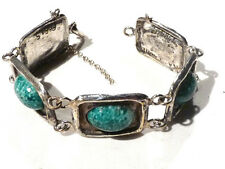 Bijou alliage argenté bracelet ISA LAURE PARIS année 80 bangle