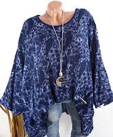 Lagenlook Tunika Damen T.Shirt Bluse Pusteblume Oversize Shirt Top 46 48 50 //436
