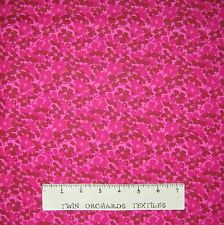 Floral Fabric - Cherise & Light Pink Flower Toss - Lyndhurst Studio YARD