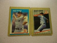 1987 FLEER AND 1988 FLEER ROGER CLEMENS LOT BOSTON RED SOXS