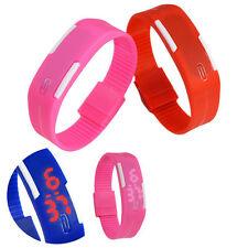 Silicone Bracelet Wrist Watch Sport LED Chic Touch Screen Digital Waterproof