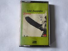 LED ZEPPELIN ~ S/T RARE ATLANTIC UK BLUES ROCK CASSETTE TAPE ~ RED PAPER LABELS