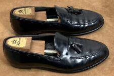 Hanover Shell Cordovan Black Tassel Loafers Men's 9