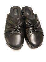 Clark's Artisan Women's Shoes Size 6 Black Slip-on Clogs Casual Comfort
