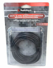 """RadioShack""-20-ft.(6.09M)Headphone/Computer Speaker Extension Cord/1/8""M&F ends"