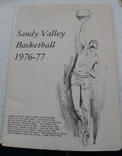 1976-77 Sandy Valley Basketball Program