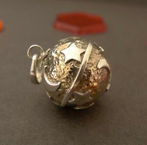 Sterling Silver & Brass Harmony Ball Pendant SilverandSoul Jewellery 16mm
