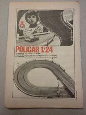 ADVERTISING PUBBLICITA' POLICAR 1/24 mod.400 PR a due corsie POLISTIL - 1969