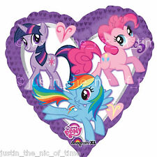 "MY LITTLE PONY Birthday Party Helium Heart FOIL BALLOONS Decoration 17"" BALLOON"