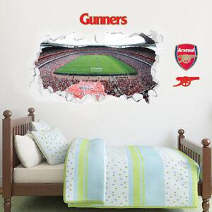 Arsenal Football Club Stadium Smashed Wall Mural Sticker + Arsenal Decal Set