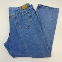 Lee Jeans Mens 42X30 Blue Straight Leg 100% Cotton Medium Wash 5 Pockets Design