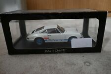 Autoart Porsche 911 Carrera RS 1:18 White blue decal mint new never out of box