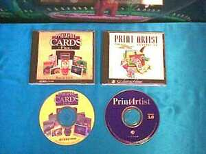 Print Artist Version 3.0 + Cards 4.5 Plus by Sierra for PC * free shipping