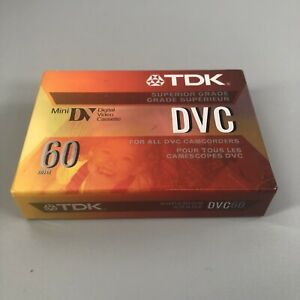 TDK DVC 60 90 Mini DV Tape Cassette SP60 LP90 DVM60MEZ Digital Video