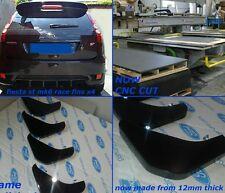 ford fiesta mk6 st/mk6 zetec s /mk6 fiesta 1.4/ diffuser fins/ bumper fins BLACK
