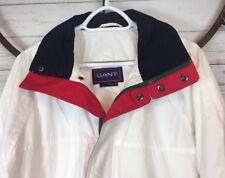 Vintage 90's Gant Nautical Cotton Jacket Multi Color Block Coat Zip Snap Lined L