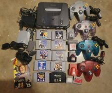 Nintendo 64 Lot, 10 Games, 4 Controllers, 2 Controller Paks, All Wires