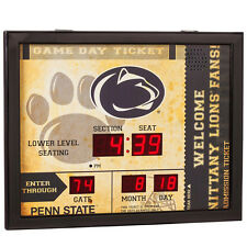 Penn State Nittany Lions scoreboard LED clock bluetooth speaker date time 20x16