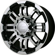 16 Vision Warrior Black Machined Wheels Rims 6x5.5 6 lug Chevy GM Toyota Truck