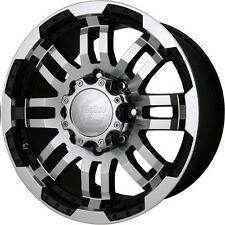 16 Vision Warrior Black Machined Wheels Rims 6x5.5 6 lug Chevy GM Toyota Truck