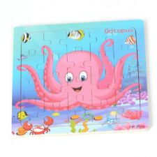 20pcs Wooden Puzzles Jigsaw Toddler Kids Child Educational Toy Octopus Xmas Gift