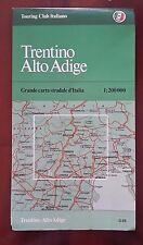 D17> Carta stradale Touring Club Italiano Trentino Alto Adige anno 1982