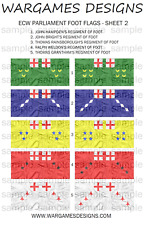 15mm ECW Parliament Foot Flags Sheet 2 - Pike & Shotte, FOG, DBR, WECW, Baroque