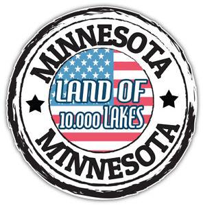 "Minnesota USA State Grunge Flag Emblem Car Bumper Sticker Decal ""SIZES"""