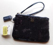Coach Poppy Blue Sequenced Wristlet 46563 Brand New