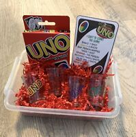 Drunk Uno Drinking Card Game, Adult Uno Game Set With Shot Glass & Storage Box