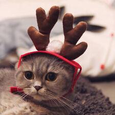 Christmas Deer Hat Puppy Dog Cat Pet Costume Cap Santa Hat Xmas Decor Gift