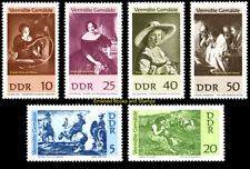 EBS East Germany DDR 1967 Stolen Paintings Michel 1286-1291 MNH**