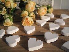 Streudeko Herzen weiß 30 Stück Hochzeit Konfirmation Valentinstag Shabby