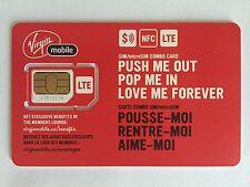 Virgin Mobile Dual Sim Card Micro Standard Regular 4G LTE NFC Canada Travel