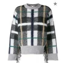 NWT STELLA MCCARTNEY plaid oversized sweater Size M $1280