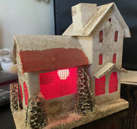 Vintage Large Lighted Christmas Putz House