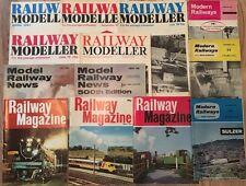 13 x Vintage Railway, Train, Model Railway Magazines 1960's - 1980's