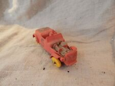 Vintage Red Rubber Race Car Hard Rubber Toy