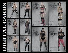 TOPPS WWE SLAM EXHIBIT WAVE 2 [SET 10 CARDS SIGNATURE DIE CUTS]