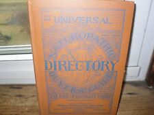 Universal Naturopathic Directory Buyer's Guide Year Book Drugless Therapy 1918 1