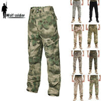 Mens Tactical Military Army Designer Camo Combat Cargo Trousers Pants Hunting