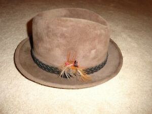 Men's Preowned Stetson Imperial Lt Brown Fedora size 7 1/4