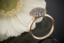 Schmuck Rotgold Ring mit Brillanten 0,74 CT Farbe Cognac 750er Rotgold 18 Karat
